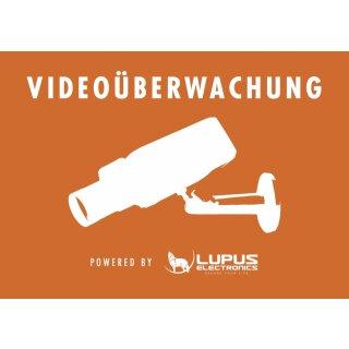 Aufkleber: Achtung Videoüberwachung