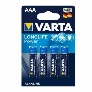 Varta Longlife Power Micro AAA Batterie (4er Blister)